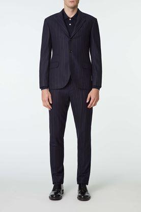 Picture of Navy Stripe Wool Blazer