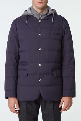 Picture of Navy Padded Down Jacket