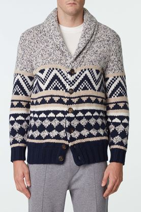 Picture of Grey Pattern Knit Wool Jacket